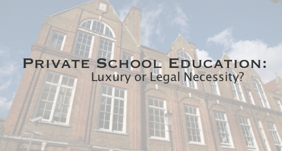 private school pay divorce